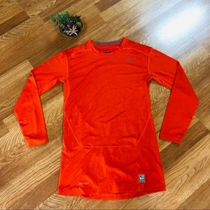 Nike Pro Combat orange dri-fit compression XL